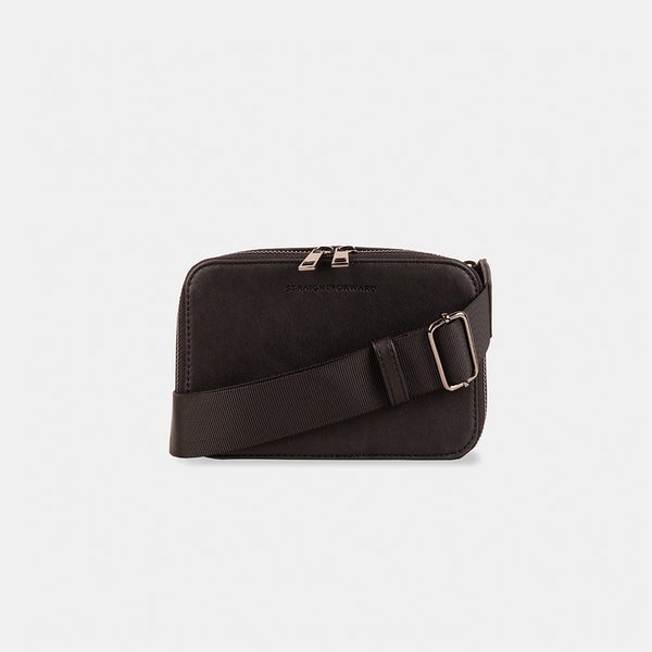 D.V.L. Mini Clutch Sling Bag (Black)