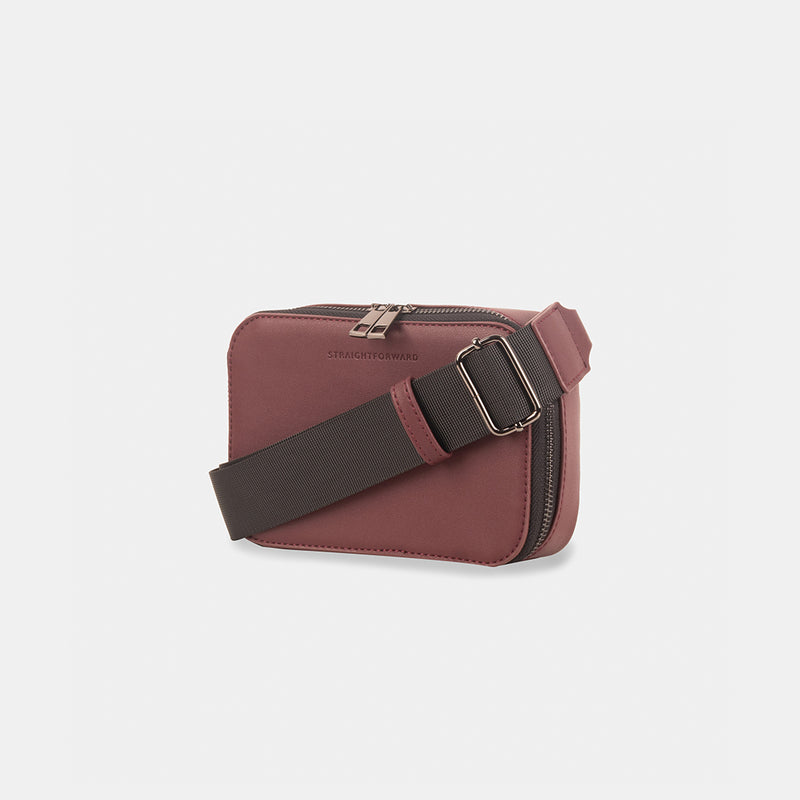 D.V.L. Mini Clutch Sling Bag (Wine)