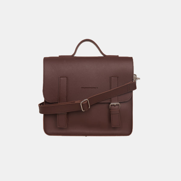 D. V. L. Mini Satchel Bag (Chestnut)