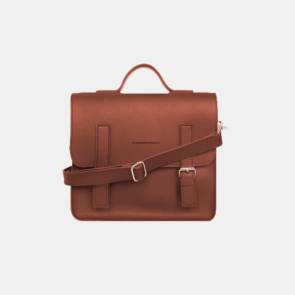 D. V. L. Mini Satchel Bag (Rust)