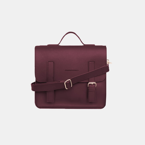 D. V. L. Mini Satchel Bag (Wine)
