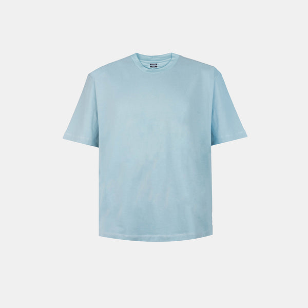 UltraSoft Blend Mock Tee (Aqua Blue)