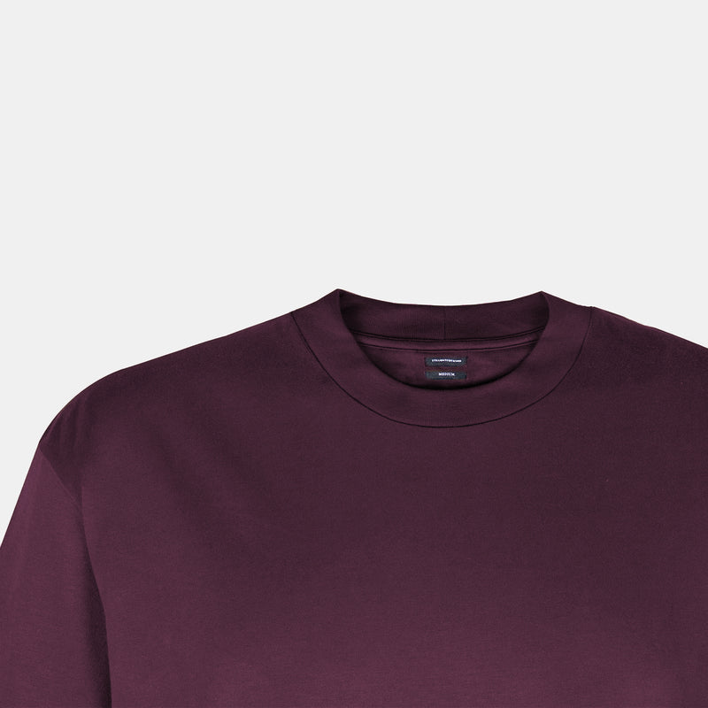 UltraSoft Blend Mock Tee (Wine)
