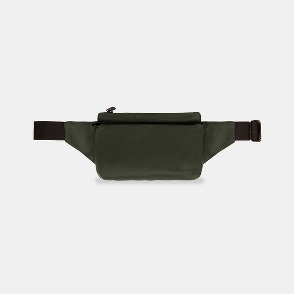 NylonTech Double Pocket Belt Bag (Army Green)