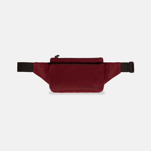 NylonTech Double Pocket Belt Bag (Wine)