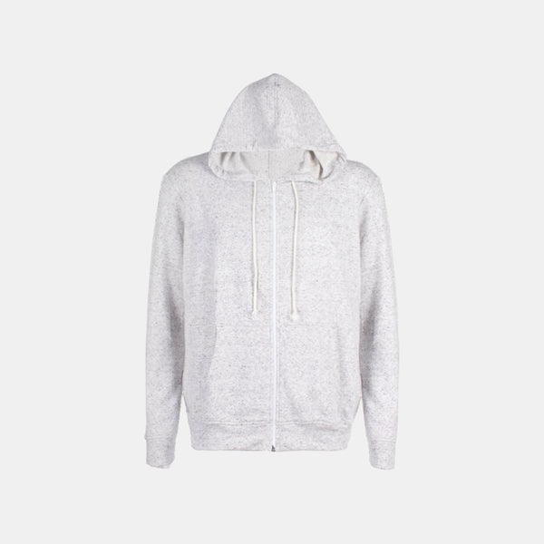 Plain Terry Zipped Hoodie (Light Gray)