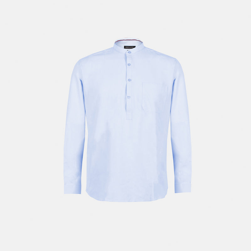 Premium Suede Chambray Button Down (Light Blue)