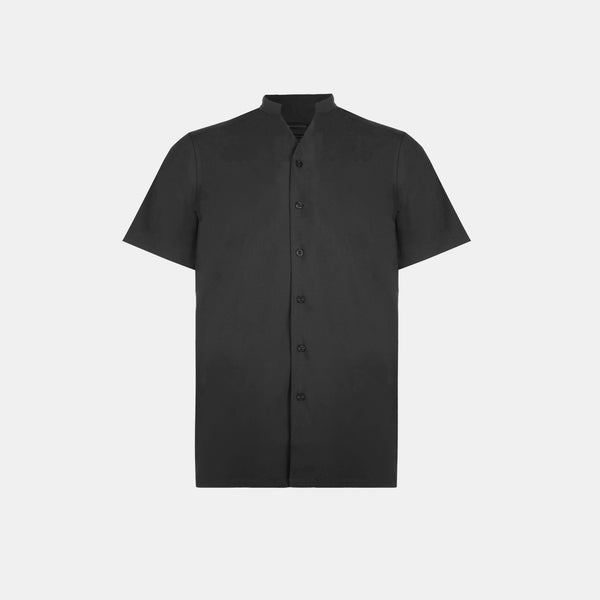 SoftBlend Mandarin Shirt (Black)