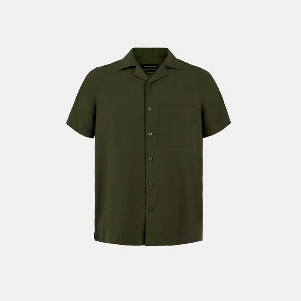 Softblend Cuban Shirt (Army Green)