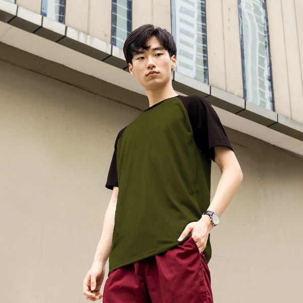 UltraSoft Short Sleeve Raglan (Army Green)