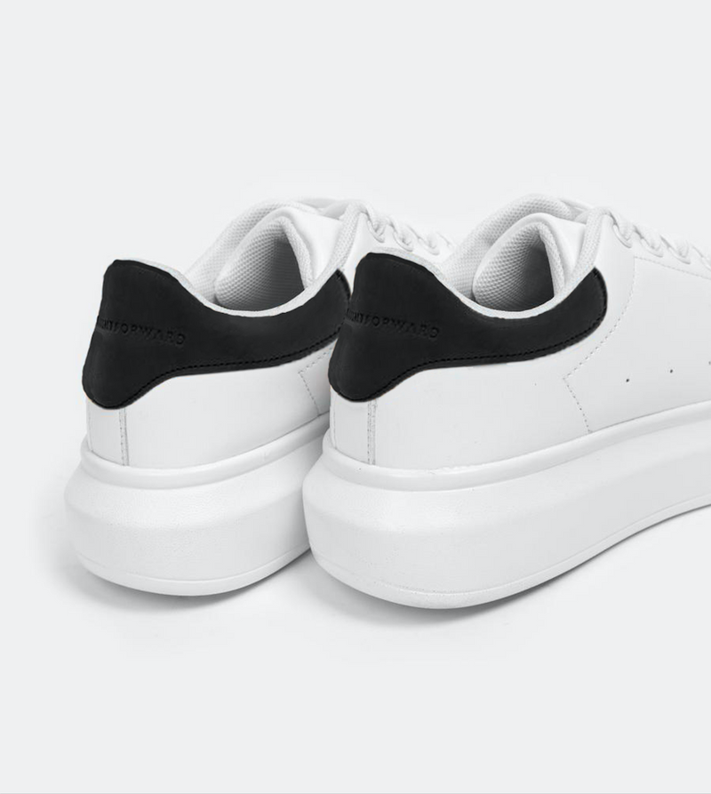 Women's Superlight White Sneakers (Black)