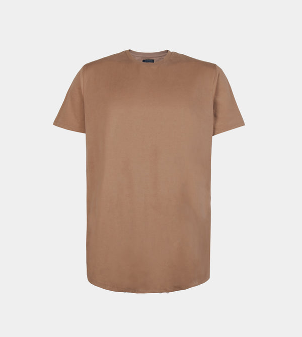 UltraSoft Blend Long Tee (Taupe)