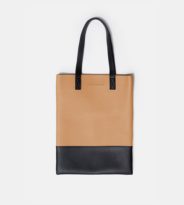 D. V. L. Portrait Two Tone Tote (Beige / Black)