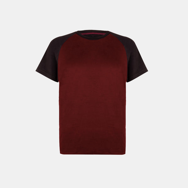 UltraSoft Short Sleeve Raglan (Wine)