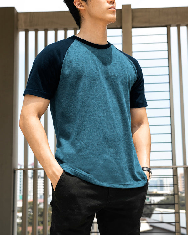 UltraSoft Short Sleeve Raglan (Teal)