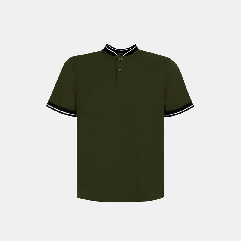 Ultrasoft Everyday Mandarin Shirt (Army Green)