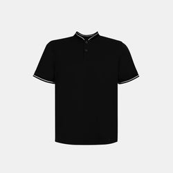 Ultrasoft Everyday Mandarin Shirt (Black)