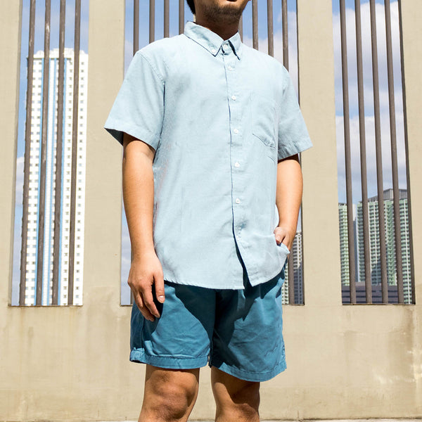 Japanese Chambray Work & Play Shirt (Aqua/Teal)