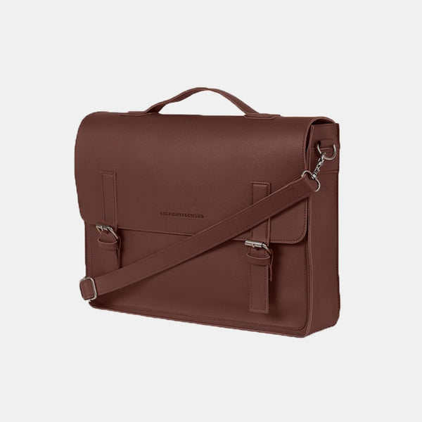 D. V. L. Satchel Bag (Chestnut)