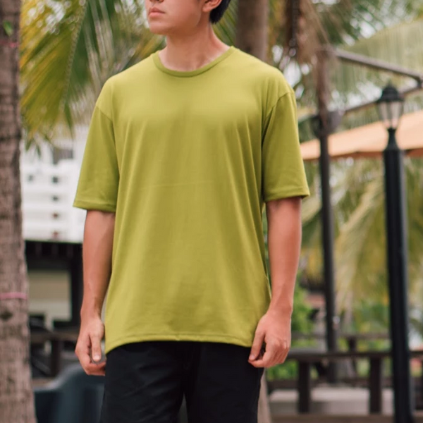 Weighted Blend Oversized Tee (Avocado)