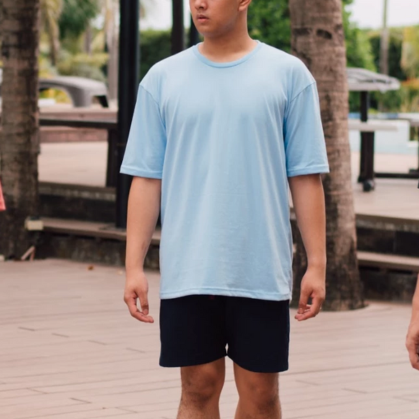 Weighted Blend Oversized Tee (Blue)