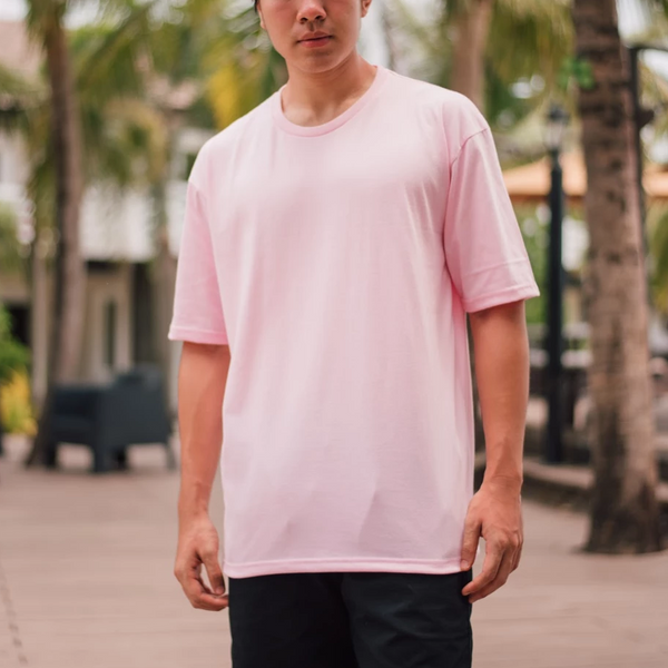 Weighted Blend Oversized Tee (Baby Pink)