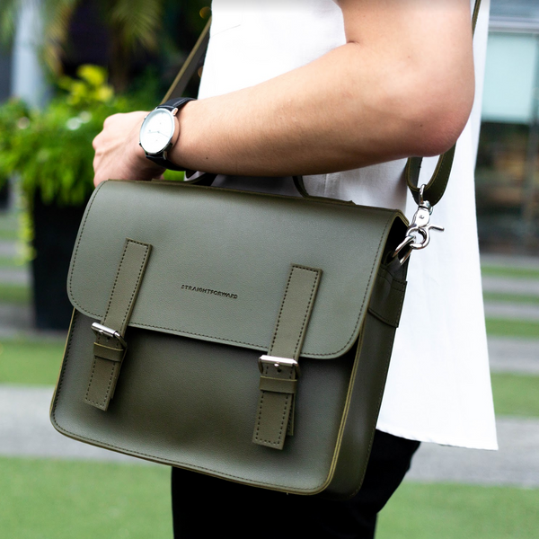 D. V. L. Mini Satchel Bag (Army Green)
