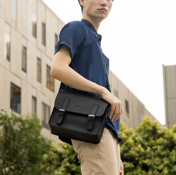 D. V. L. Mini Satchel Bag (Black)