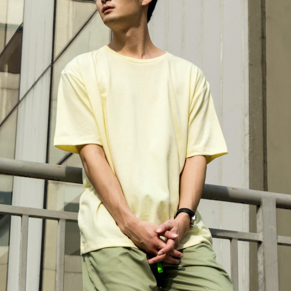 Weighted Blend Oversized Tee (Cream)