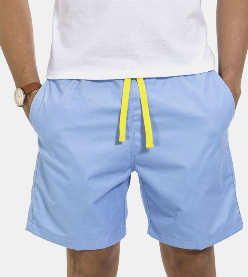 Tailored Shorts (Sky) - Front