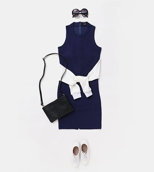 Sleeveless Dress (Navy Blue)