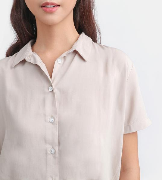 The Button-Down Smart Shirt (Beige)