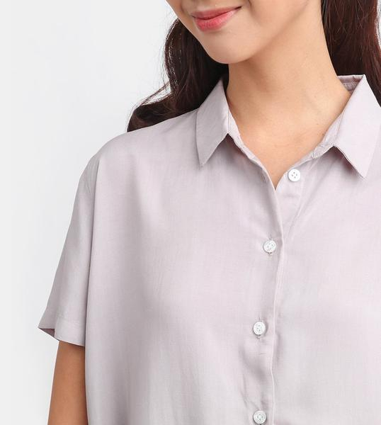 The Button-Down Smart Shirt (Light Grey)