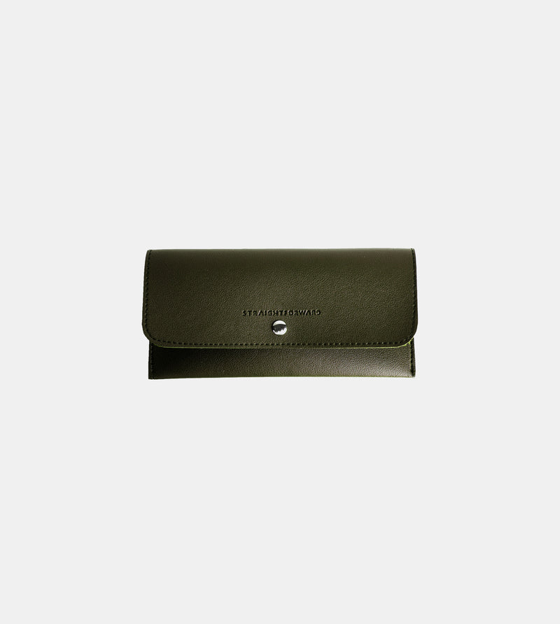 Leather Sunglasses Case (Army Green)
