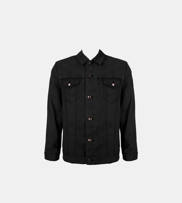 The Problem Solver Denim Jacket (Black)