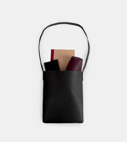 D. V. L. Tote Bag with Sling (Black)