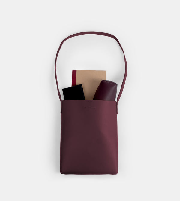 D. V. L. Tote Bag with Sling (Wine)