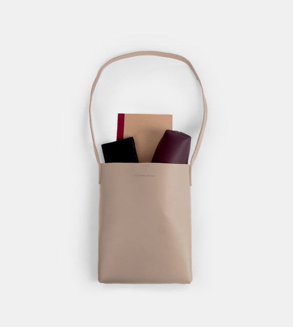 D. V. L. Tote Bag with Sling (Taupe)