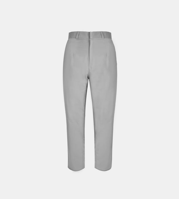 The Twill Ankle Trousers (Dark Gray)