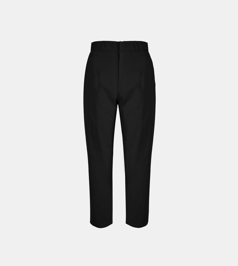 The Twill Ankle Trousers (Black)