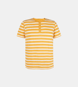 Essential Blend Striped Henley Tee (Mustard)