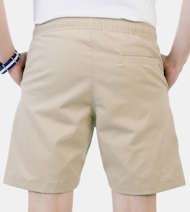 Tailored Shorts (Tan) - Back