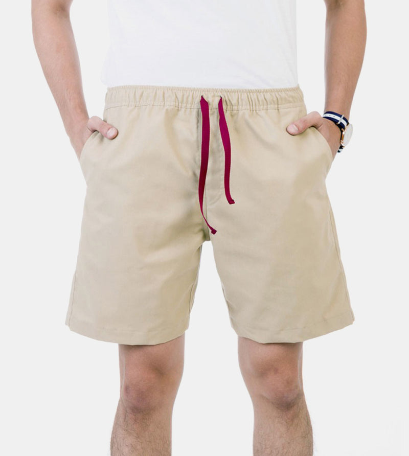 Tailored Shorts (Tan) - Front
