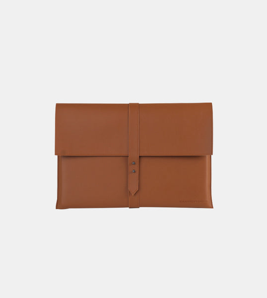 Elegant Laptop Case (Tan) - Front