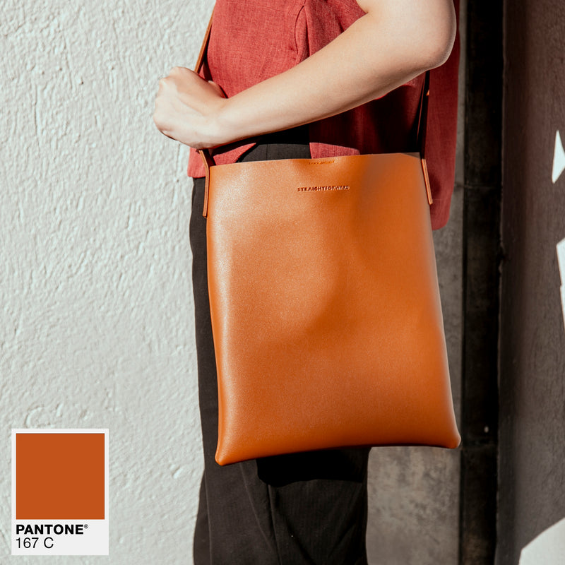 D. V. L. Tote Bag with Sling (Tan)