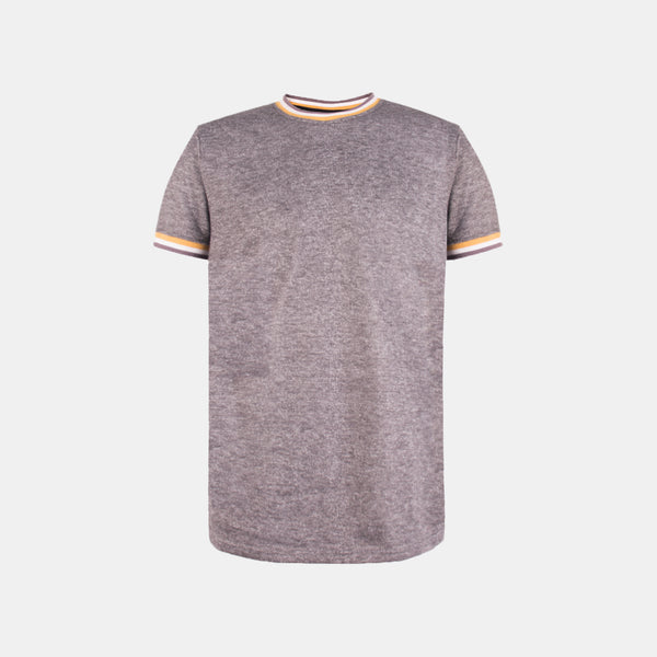 Seasonal French Terry Ringer Tee (Gray/Yellow)