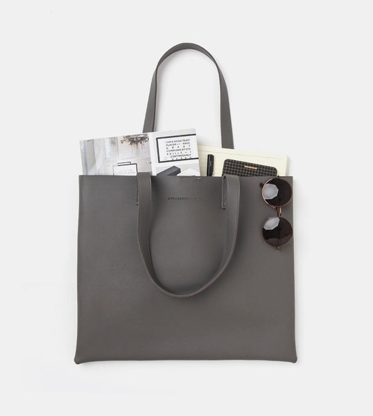 The Ideal Landscape Tote Bag (Dark Gray) - Flatlay