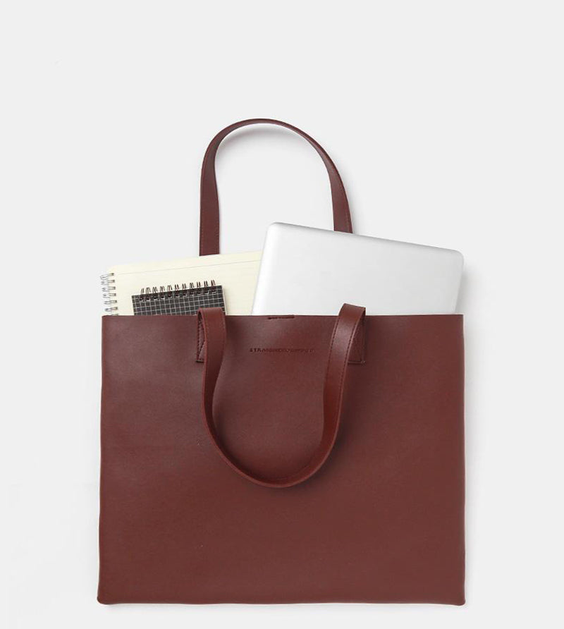 The Ideal Landscape Tote Bag (Wine) - Flatlay