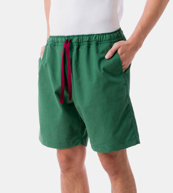 Tailored Shorts (Tropical Green) - Diagonal