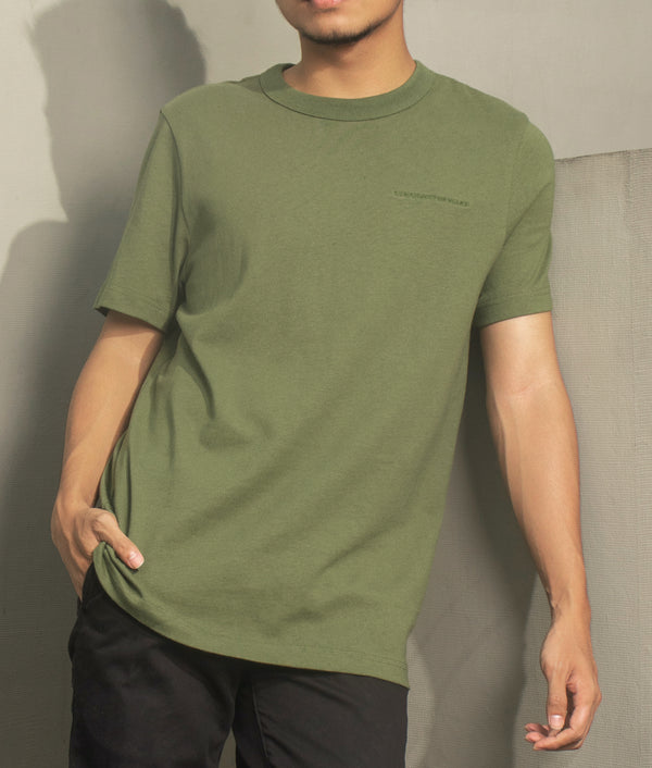 Men's Heavyweight Basic Tee (Army Green)